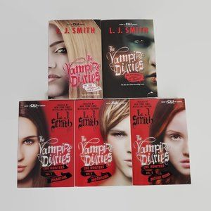 Lot of 5 The Vampire Diaries Books by L.J. Smith